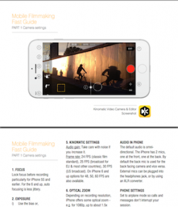 Mobile Filmmaking Fast Guide Part 1